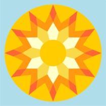 sunburst1 inch